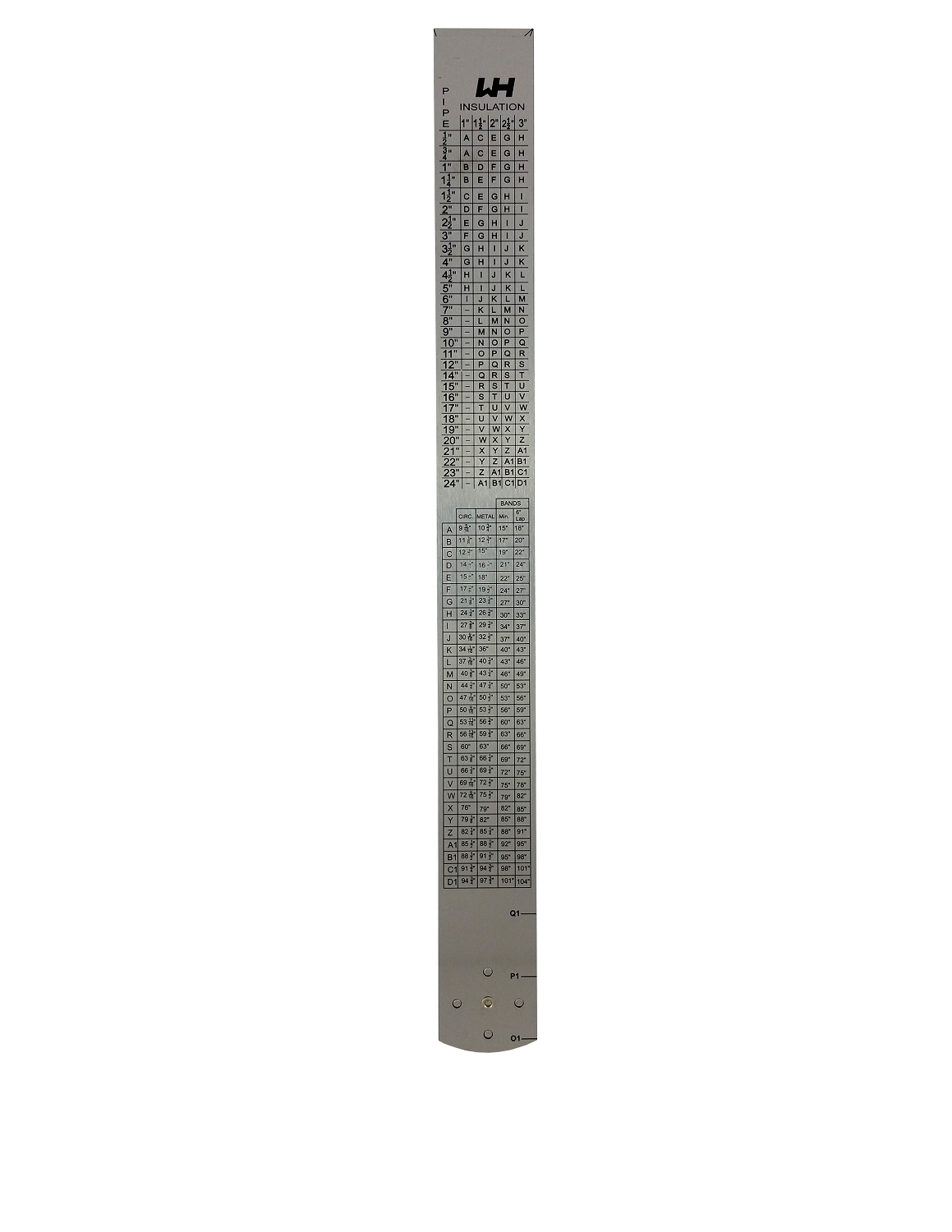 2 Foot folding WH ruler ( 5mm thick)