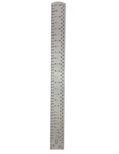 New!! Thick 1 Foot WH ruler (1 mm thick)